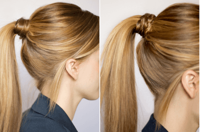 wrap pony tail hair styles pony styles simple
