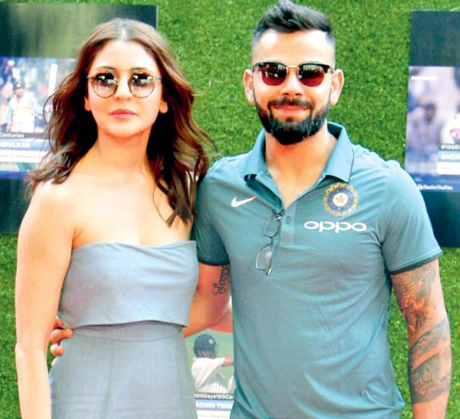 karan johar cast virat anshukha in Movie