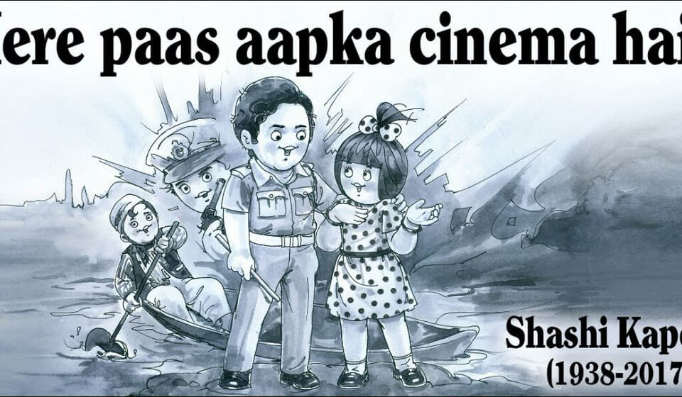 Amul tribute post to Shashi Kapoor