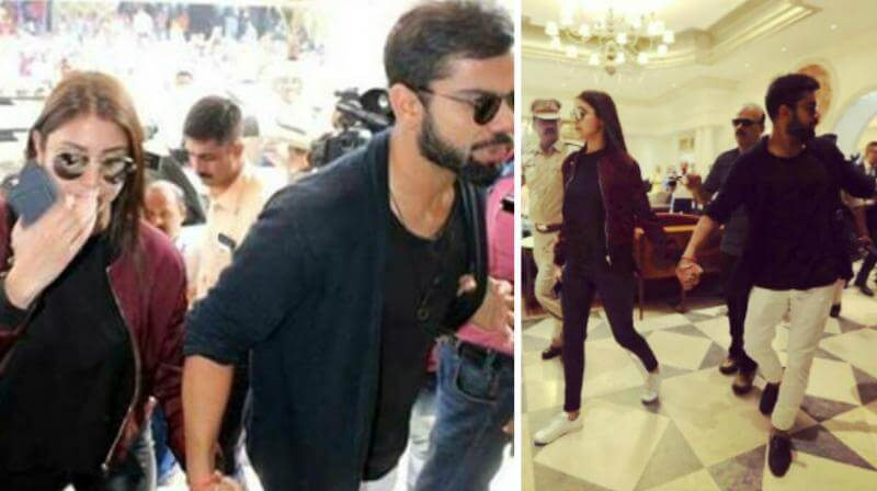 Anushka Sharma Virat Kohli Arrive In Delhi (1)