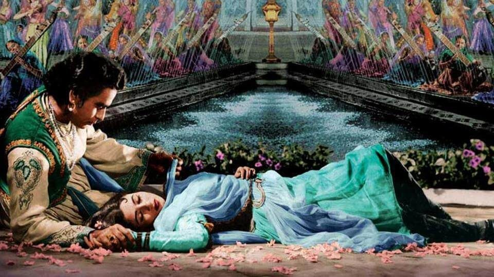 Dilip Kumar and Madhubala in a still from Mughal-E-Azam