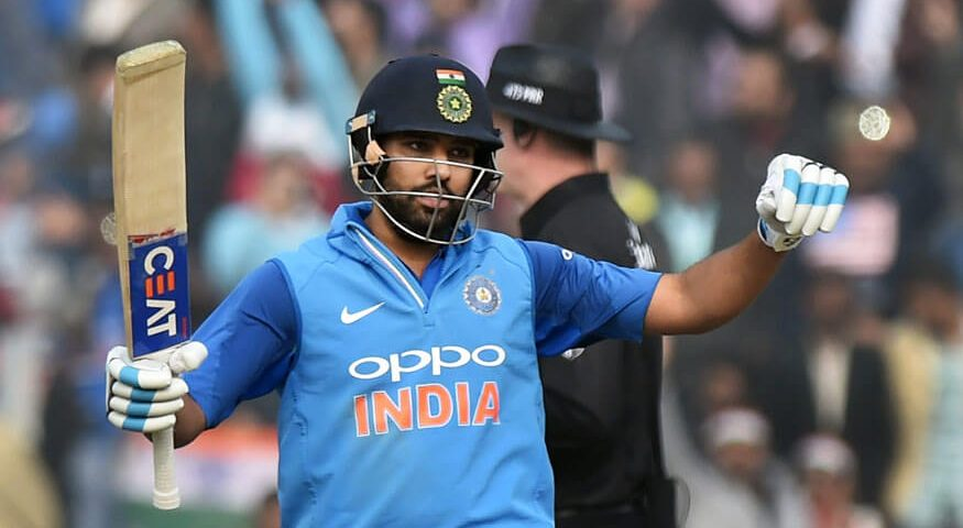 India's captain Rohit Sharma celebrates his century during the second ODI cricket match (1)