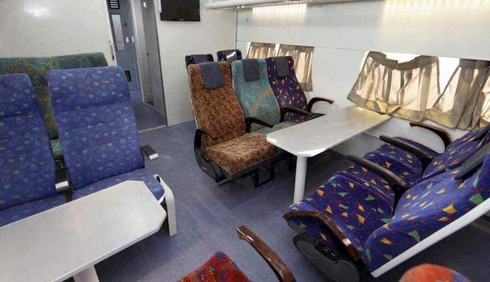 inside view of the Anubhuti coach at a railway coach (1)