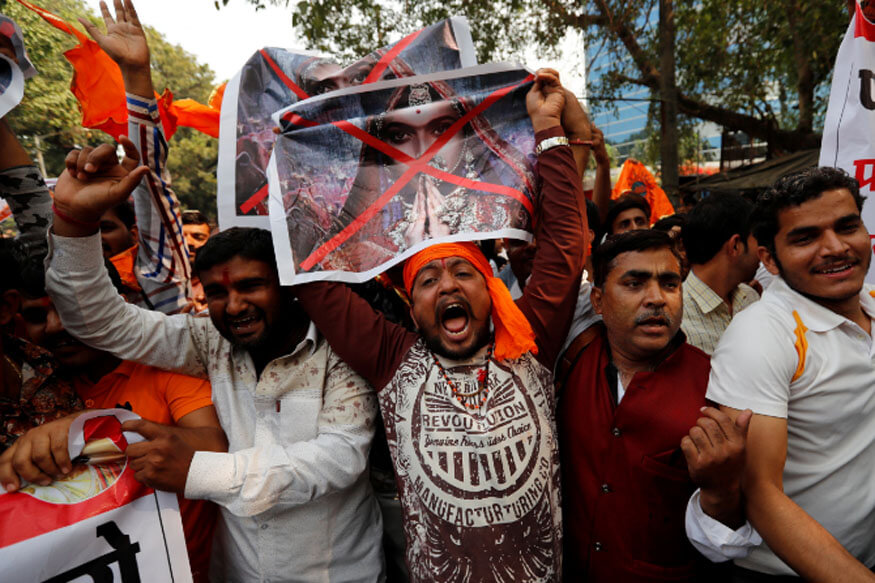 Members of the Rajput community protest against the release of movie 'Padmavat' (1)