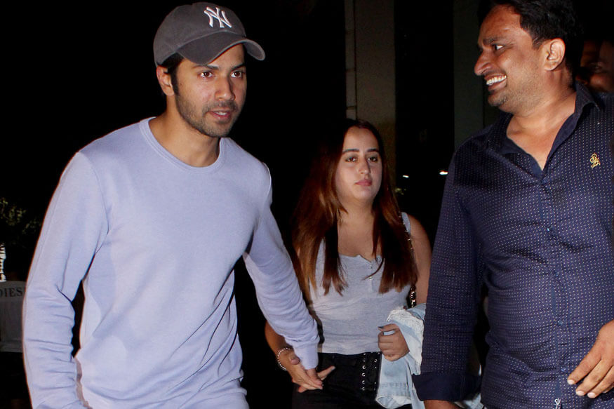 Varun Dhawan and Natasha Dalal spotted at Juhu PVR in Mumbai (1)