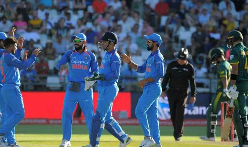 India face South Africa in the fifth ODI at St George's Park Port Elizabeth on February 13 (1)