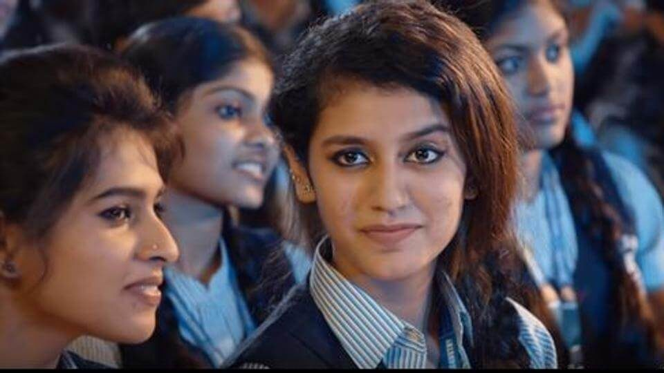 Newcomer Priya Prakash Varrier in a scene from the song Manikya Malaraya Poovi (1)