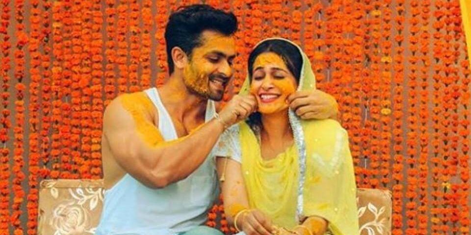 TV actors Dipika Kakar and Shoaib Ibrahim caught in a cute moment during their haldi ceremony in Uttar Pradesh (1)