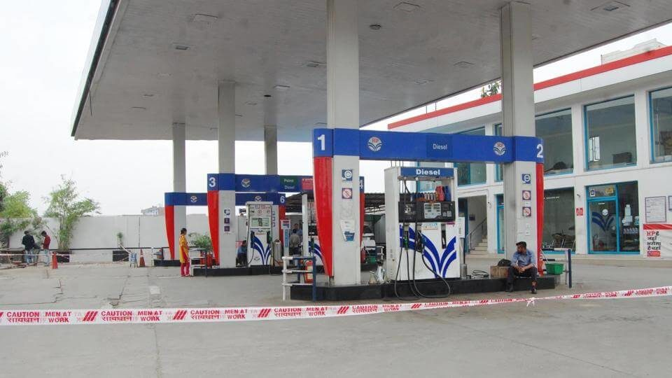 A view of a petrol pump in Amritsar