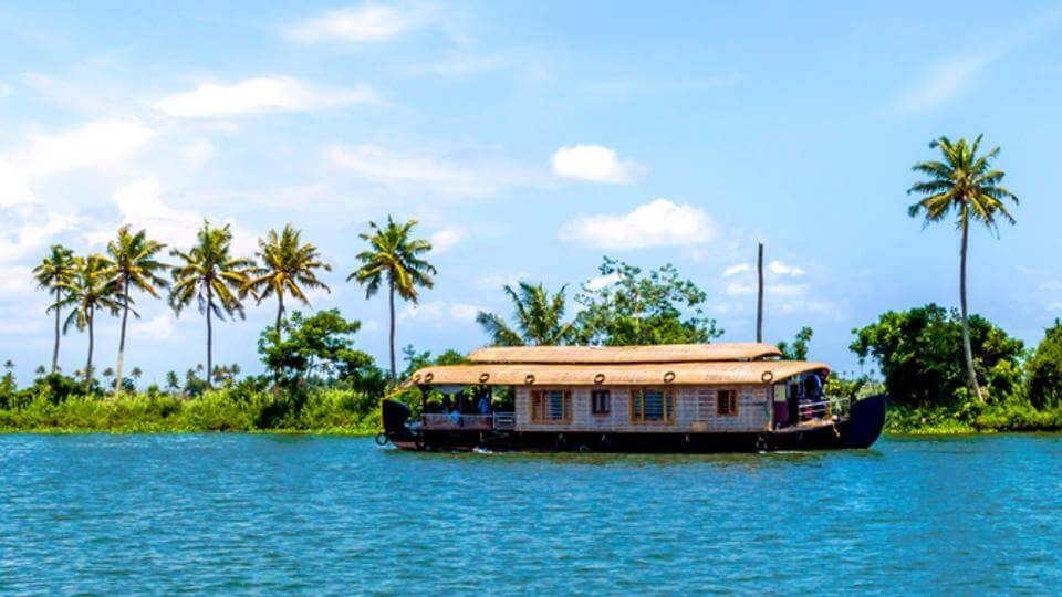 A houseboat on Kerala backwaters