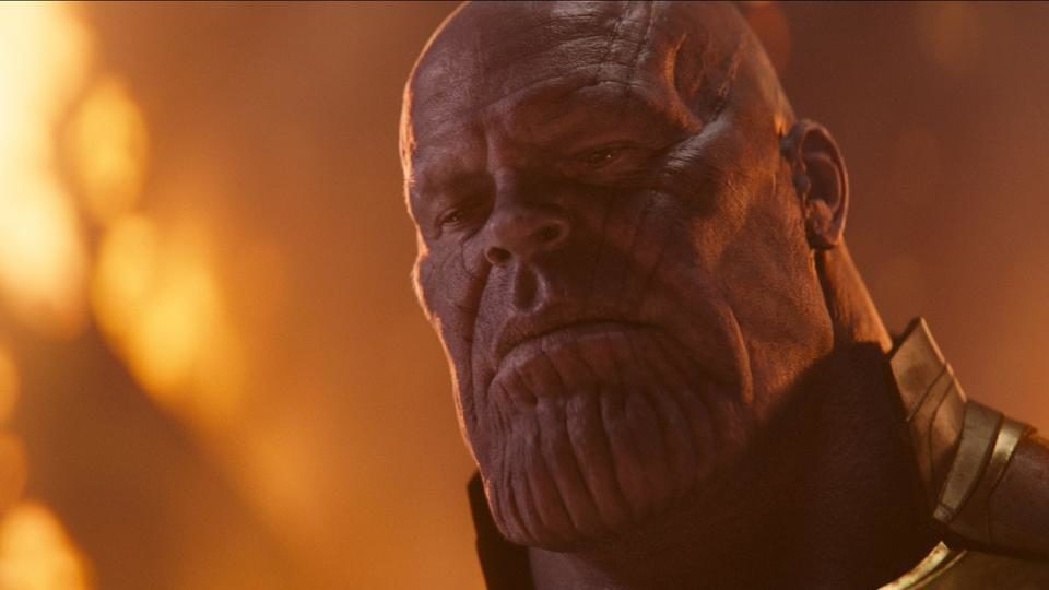 Josh Brolin as Thanos in a still from Avengers