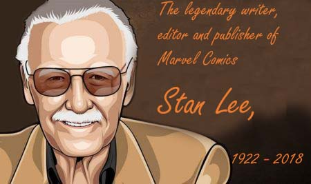 Stan Lee, The writer, editor, and publisher of Marvel Comic' Superhero, Dies at 95