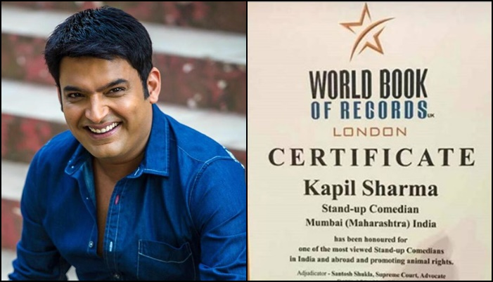 Kapil Sharma, the most watched standup comedians in India, the name on the record book